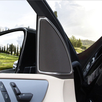 Car Interior Door Audio Stereo Speaker Frame Decoration Cover Trim For Mercedes Benz ML GL Class