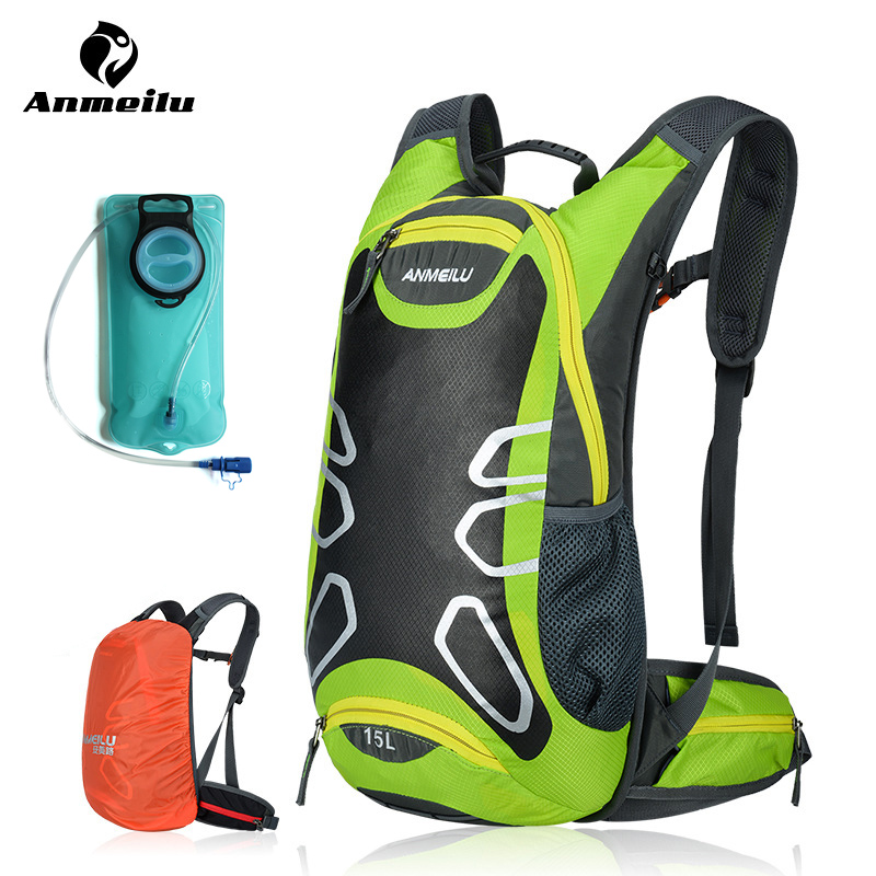 ANMEILU Mtb Bike Bag 2L Cycling Water Bag Waterproof Sport Road Bicycle Hydration Bag 15L Travel Shoulders Bag