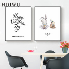 Art Home Canvas Wall Painting Creative combination Aminal Printing Posters Pictures for Living Room DJ261