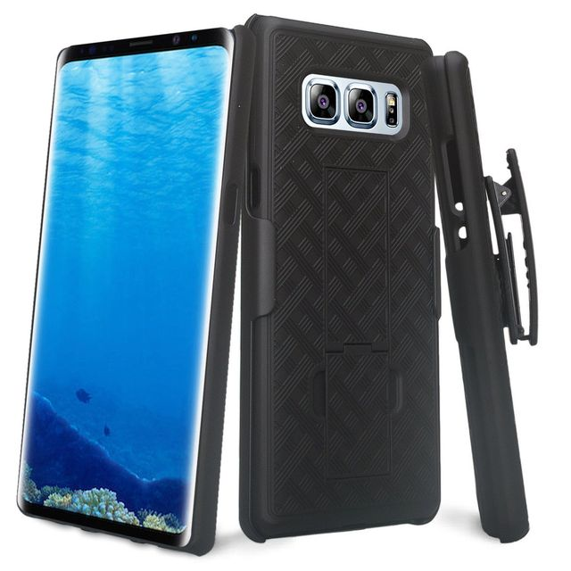Business Man Holster Clip Case Hard Shell Back Case Kickstand Swivel Belt Clip Holster for Samsung Galaxy Note 8 9 Note8 Note9