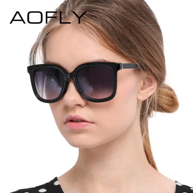 AOFLY New Fashion Women Sunglasses Square Frame Glasses Summer Style Luxury Brand Sunglasses High Quality Glasses Oculos De Sol