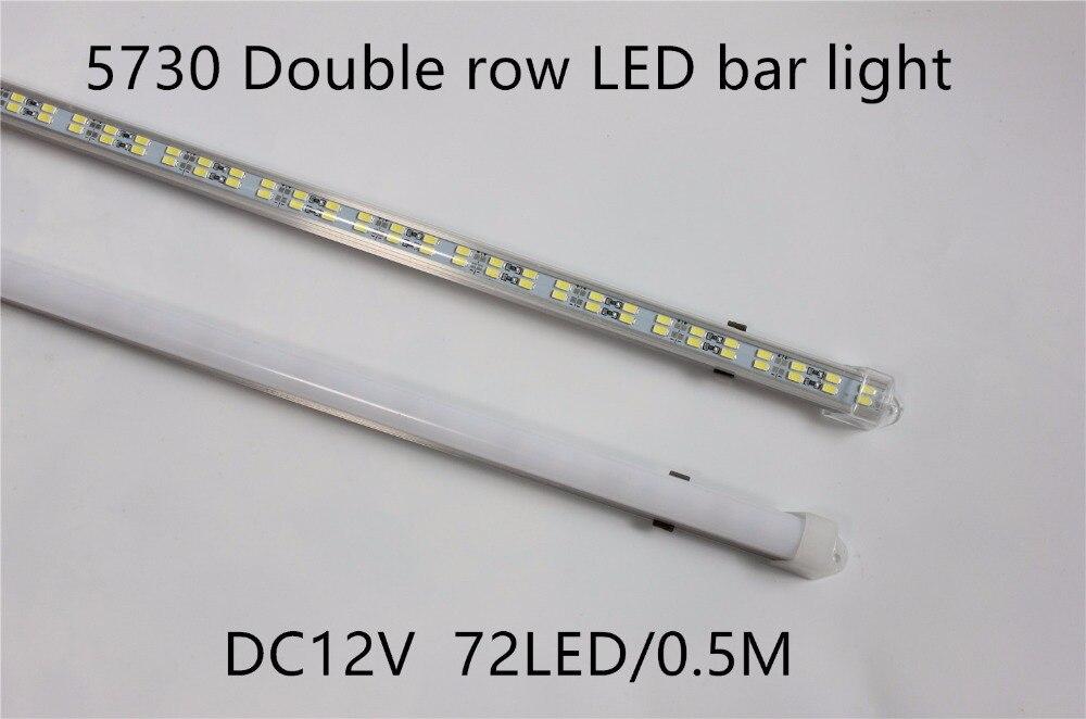 Led Lighting Open-Minded 10pcs/lot 72leds 5730 Led Bar Light Hard Rigid Strip Double Row Non Waterproof 12v 12mm Pcb 72leds/0.5m More Bright Then 5630