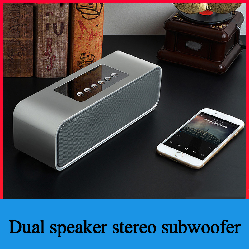 DY22 Bluetooth Speaker Home Computer Radio Alarm Clock Small Sound Phone  Wireless Subwoofer Support Remote Control TF AUX USB