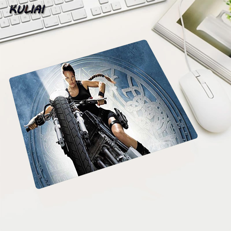 KULIAI Video Rubber Game Wallpaper Mouse Pad 22X18 25X20 29X25 CM Tomb Raider Player Office Family Pc Gaming Laptop Mause Mat