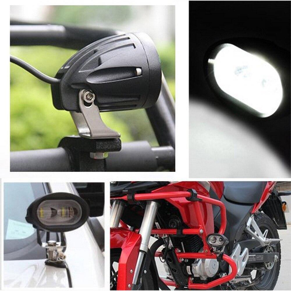 1pcs Super Bright white Motorcycle Spot Light universal LED Headlights Fog Lamp DC 12V 24V Waterproof IP67 6000K 6D lens (3)