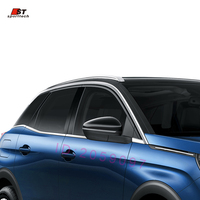 8 Pcs Car Styling Fit For 2017 Peugeot 3008 GT Accessories Stainless Steel Side Window Trim