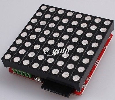 LED RGB Matrix Module Driver Board 8x8 for Arduino AVR with Dot Matrix good