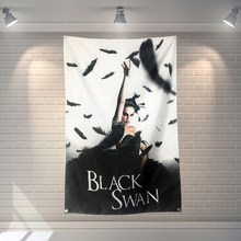 """Black Swan"" Film Classici Panno Bandiera Banner & Accessori Bar Biliardo Sala Studio Theme Wall Hanging Decoration(China)"
