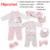 18 pçs/set recém-nascidos roupas de menina 0-3 meses de manga longa de algodão new born dom conjuntos de roupas de bebê menino terno roupa infantil verão