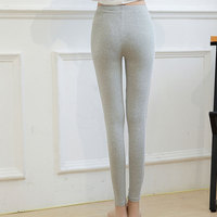Cotton bottomless trousers vertical stripes white edge big code tight pants NAA