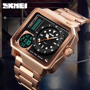 Image 5 - Luxury Mens Watches SKMEI Brand Digital Quartz Watch Men Casual Clock Big Dial Waterproof Military Sports Chrono Wristwatches