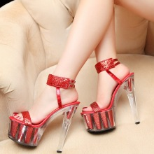 Europe And Super High Heels 16cm Platform Sexy Size 11 Womens Dress Sandals Stilettos Shoes For Sale