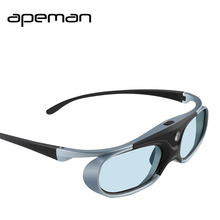 Apeman 3D Rechargeable Glasses High Brightness Contrast DLP Portable Glasses For Home Theater Projectors 3D Movies Kits