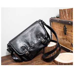 Image 4 - Zebella Simple Famous Brand Business Men Briefcase Bag Luxury PU Leather Black Laptop Bag Man Shoulder Crossbody Bag Bolsa Malet