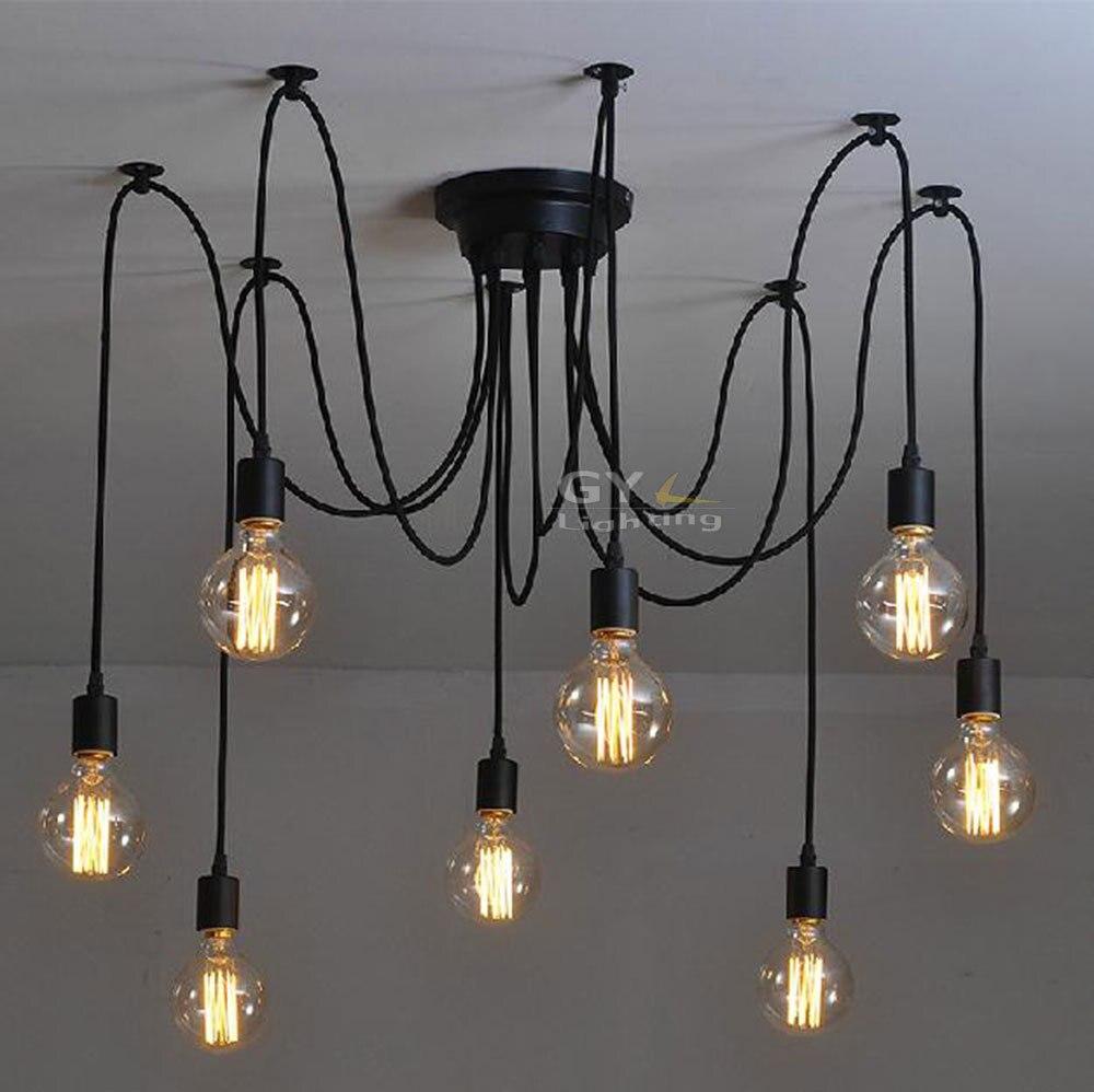 100 240v novelty art deco modern diy ceiling lights chandelier lustre brief wire hanging lamps