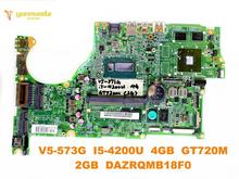 Original for ACER V5-573G laptop motherboard V5-573G I5-4200U 4GB GT720M 2GB DAZRQMB18F0 tested good free shipping