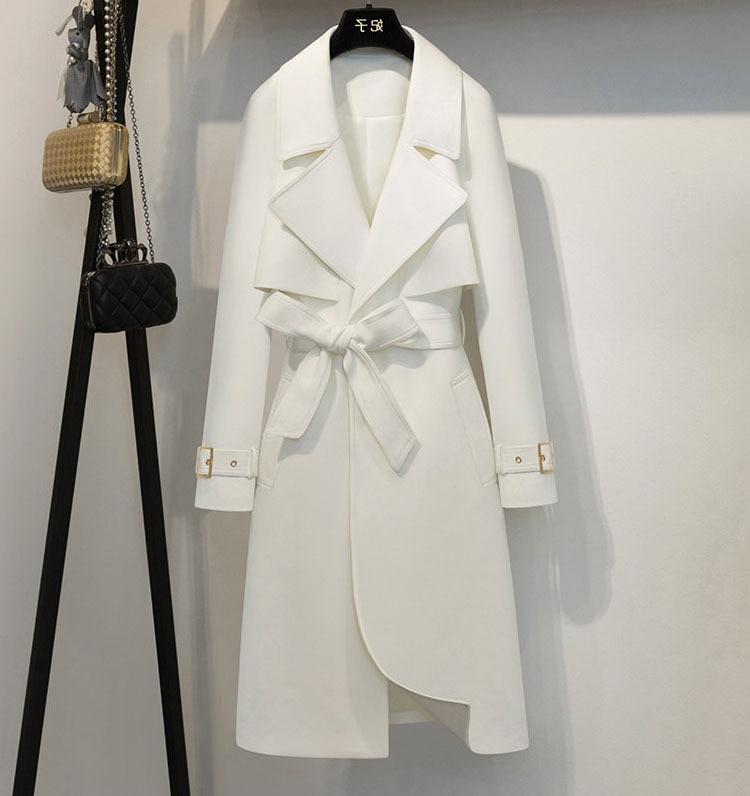 Stylish Women's Windbreaker Vogue Office Lady   Trench   Coat For Women Casaco Feminino   Trench   Female Windbreakers Raincoat