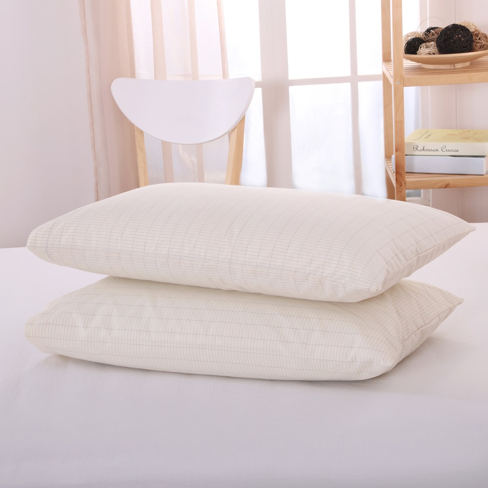 Earthing Pillow case 50 75cm 2 pcs with grounding cord and socket health care EMF protection