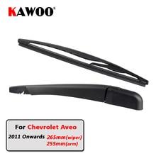KAWOO Car Rear Wiper Blade Blades Back Window Wipers Arm For Chevrolet Aveo Hatchback (2011 Onwards) 265mm Auto Windscreen Blade