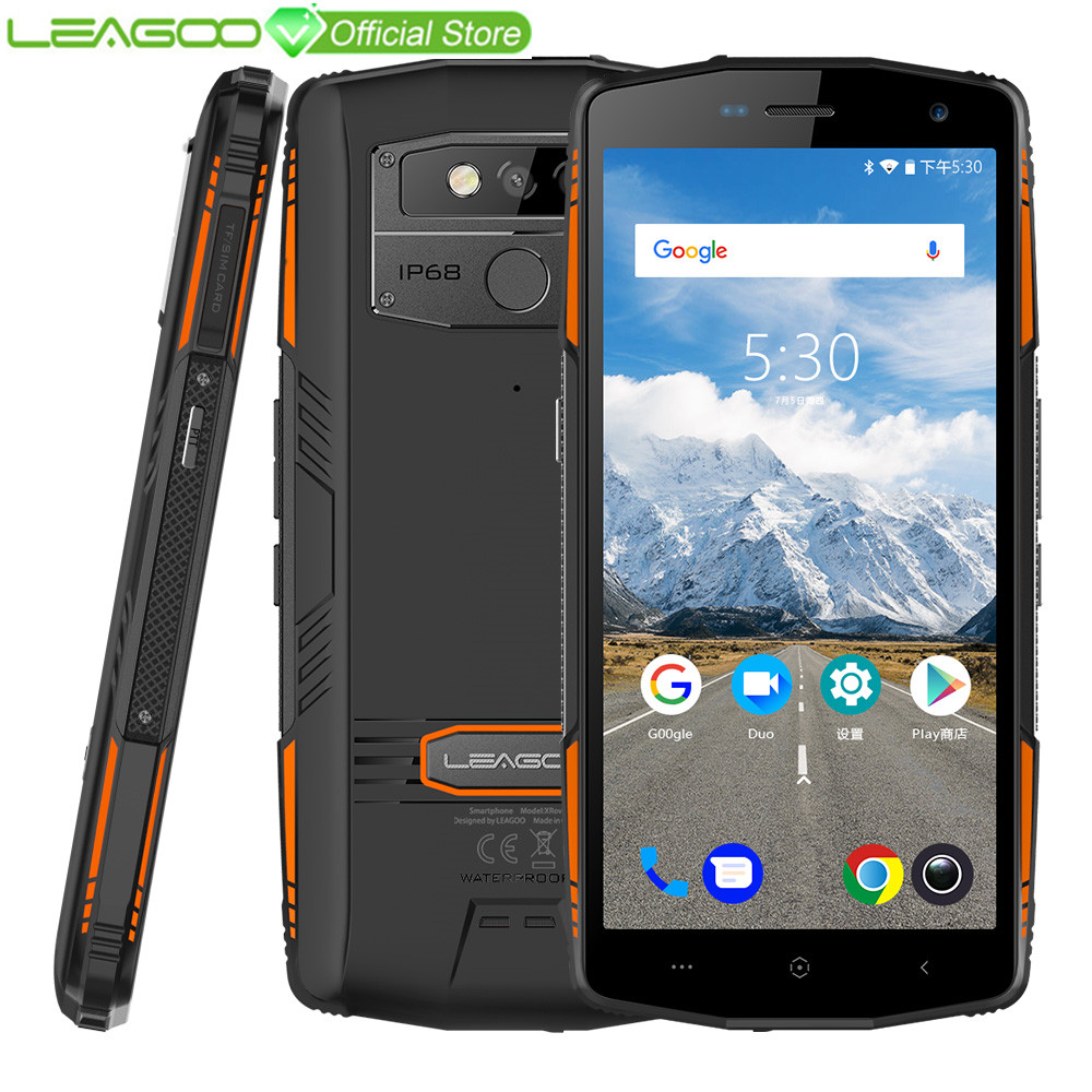"LEAGOO X Rover IP68 Waterproof Smartphone 5.72"" 6GB 128GB MTK6763 Octa Core NFC Face ID 13MP Dual Camera 5000mAh 4G Rugged Phone-in Cellphones from Cellphones & Telecommunications"