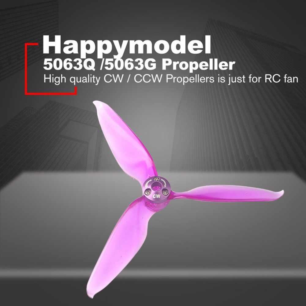 Happymodel 5063Q 5063G 4 pares de 5 pulgadas 3 hojas de liberación rápida hélice violento CW CCW para SE2306 sin escobillas motor
