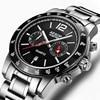 AESOP Business Mens Watches Top Brand Luxury Sport Watch Men Waterproof Steel Quartz Wristwatches Calendar Male