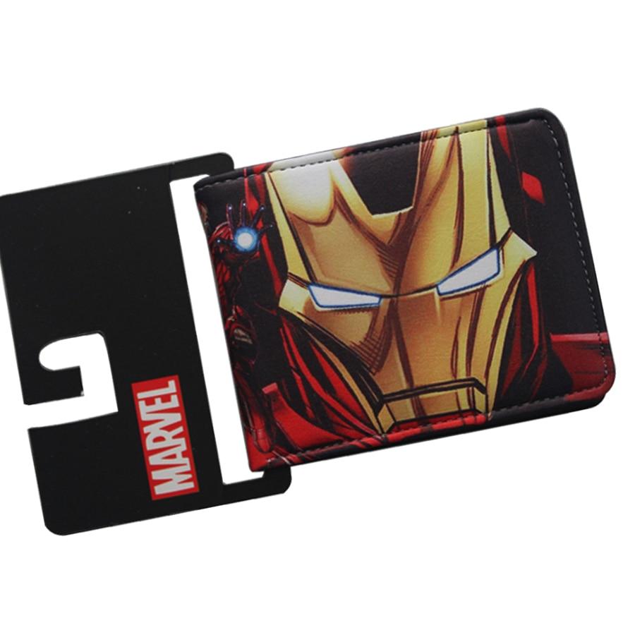 Classic Comic Iron Man Personality Men Wallet Designer Drop Shipping Boys Billeteras Dollars Price Bifold Trifold Short PU Purse yakury n 5 comic