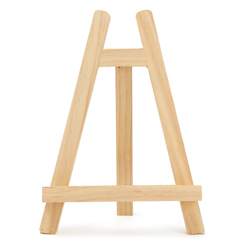 new arrival 28cm mini wooden folding sketch painting easel frame adjustable tripod display show stand shelf