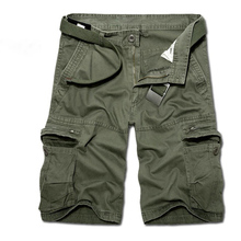 Summer army green wind waist five pants shorts cotton mens multi-pocket free shipping