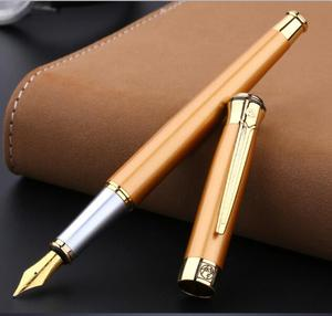 Image 2 - Free shipping wholesale school office supplies pen Picasso Luxury blue & silver 0.5mm nib fountain pen high quality writing pen