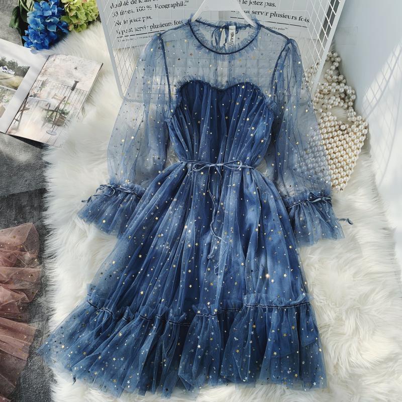 Gauze Two Piece Midi Dress 16