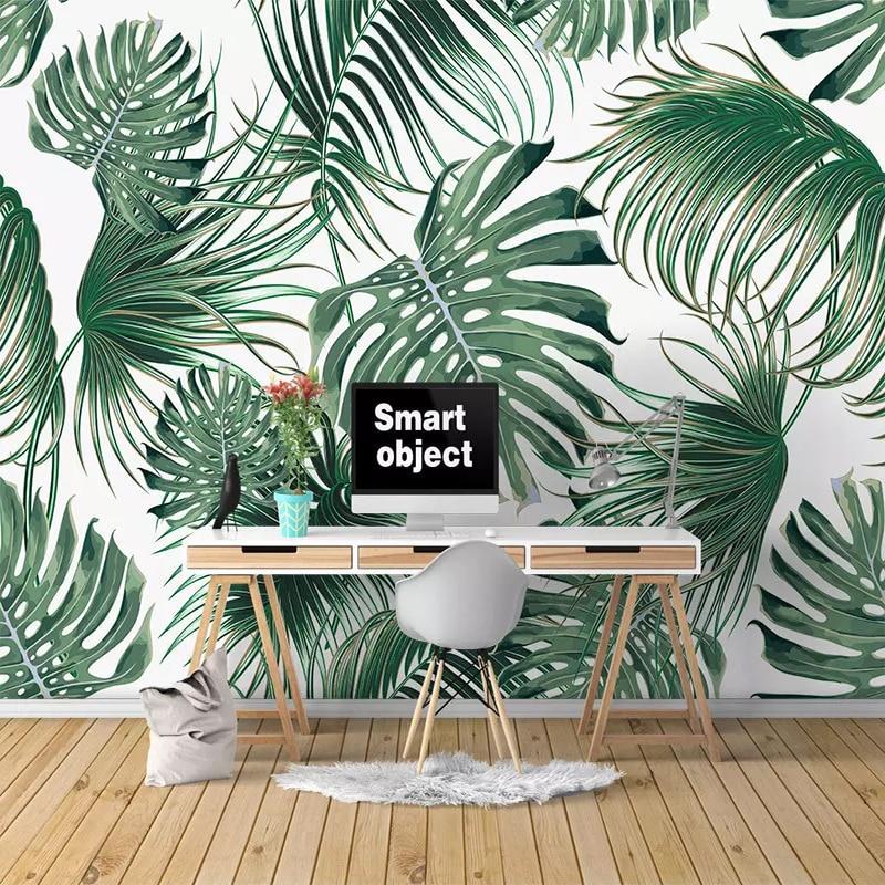 Photo Wallpaper 3D Tropical Leaves Banana Leaf Mural Living Room Bedroom Modern Home Decor Wall Paper For Walls Papel De Parede