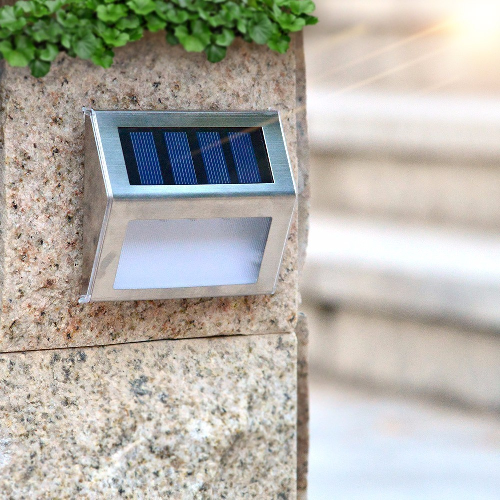 Lighting Basement Washroom Stairs: 10 Pieces LED Solar Powered Stair Lights Solar Step Lights