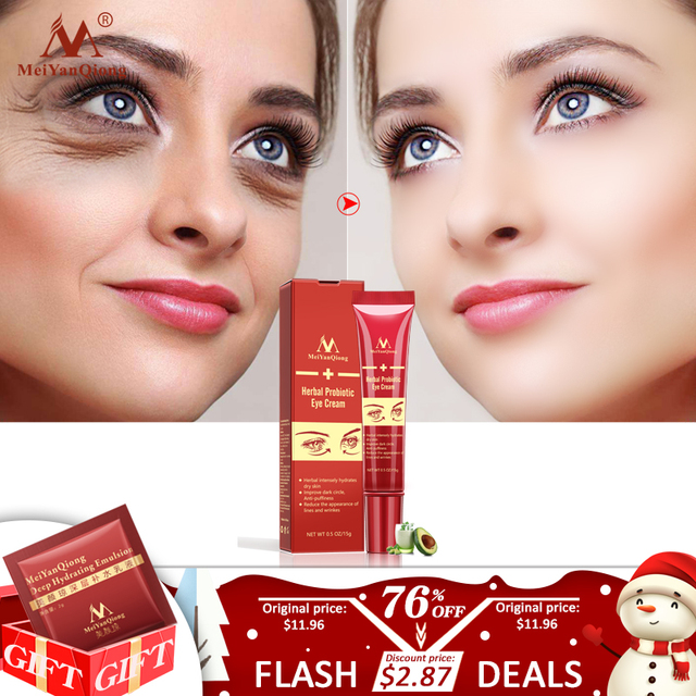 Anti-Aging Herbal Probiotic Eye Cream Improve dark circle Intensely Hydrate Dry Skin Anti-Puffiness Reduce Face Lines and Wrinke