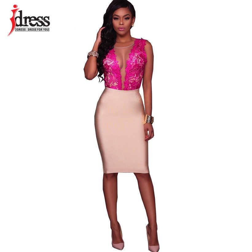 IDress черный белый розовый красный сексуальный открытая спина боди Feminino 2019 Лето Кружева тела Вышивка облегающие костюмы женский комбинезон