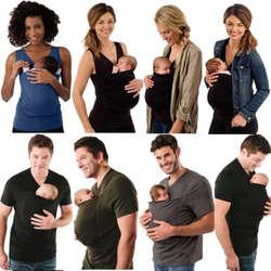 Модные женские туфли Для мужчин футболка мать отец кенгуру жилет родителей Детские топы детские футболки