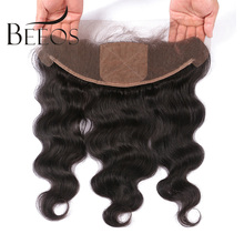 BEEOS 10-20″ Pre Plucked Silk Base Lace Frontal Closure 13*4 Remy Hair Brazilian Body Wave Human Hair Closure With Baby Hair