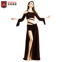 Lady Elegant Belly dance Costumes Top&Skirt Stage Performance ballroom latin rumba salsa samba chacha dance dress все цены