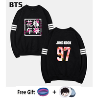 BTS Bangtan Boys Kpop Tracksuit Loose Hoodie Sweatshirt Casual Wings Hipster Brand Fashion Comfortable Korean Sweatshirt