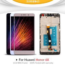 цены на For Huawei Honor 6X LCD Display + Touch Screen Digitizer Assembly With Frame Replacement For Honor 6X / Huawei GR5 2017 LCD  в интернет-магазинах