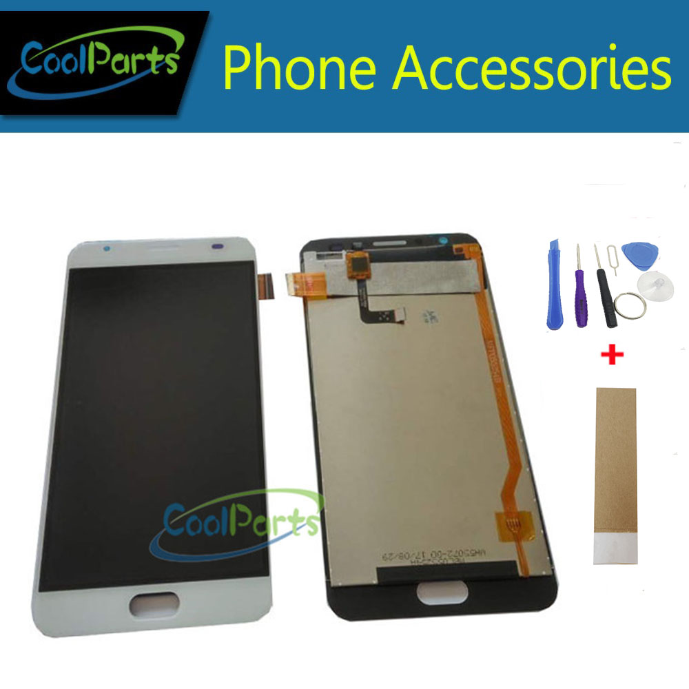 1PC/Lot 5.5'' For Qukitel K6000 Plus LCD Display+Touch Screen Digitizer Assembly Replacement Part White Color With Tape&Tool