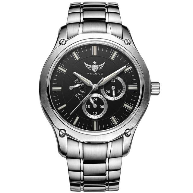 YELANG Tritium Montre pour hommes montres à Quartz T100 lumineux Auto Date Flyback étanche Sport Montre bracelet Montre Relogios V1027