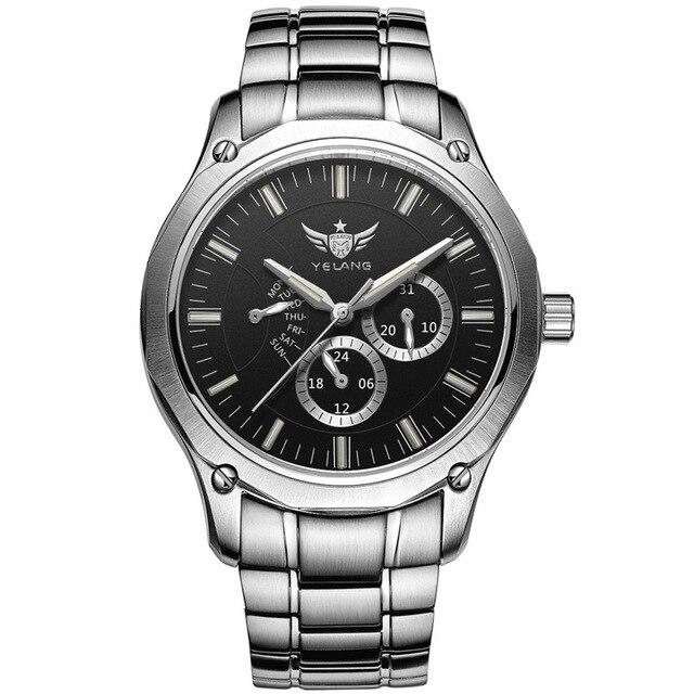 YELANG Tritium Watch For Men Quartz Watches T100 Luminous Auto Date Flyback Waterproof Sport Wristwatch Montre Relogios V1027