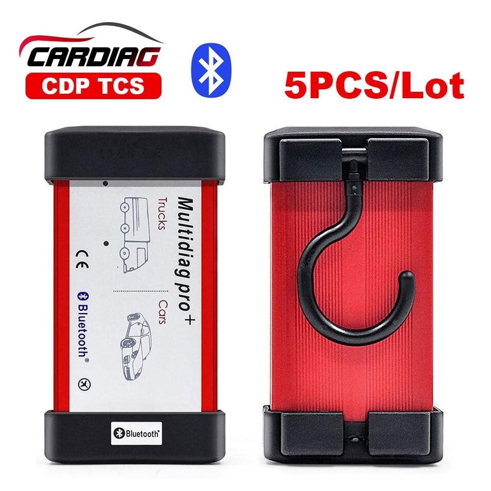 Prix pour 5 pc/Lot DHL Livraison Multidiag Pro V2014.02/V2015.R3 avec Keygen en option avec Bluetooth CDP TCS PRO + pour Voitures/camions OBD2 TCS PRO