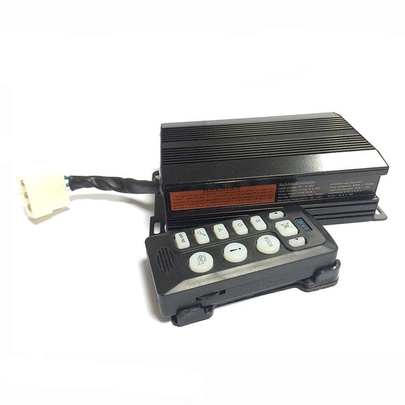 YHAAVALE 6203 sirène de Police de voiture 200 W 12 V système de PA électronique 9 tons filaire portable Mic incendie ambre Police sirène d'urgence