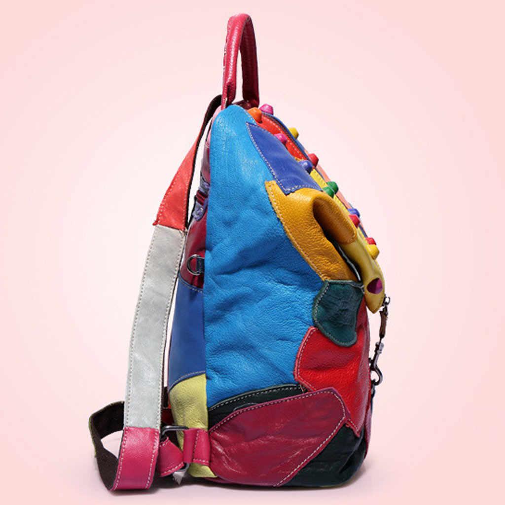 Tas untuk Wanita 2019 Baru Fashion Retro Zipper Wanita Ransel Kulit PU Kualitas Tinggi Tas Sekolah Tas Bahu untuk Pemuda tas M16