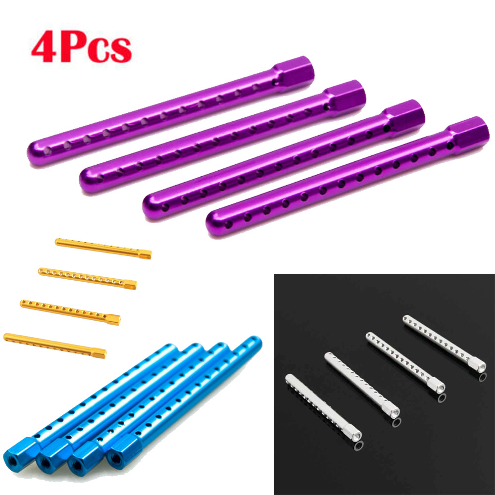 Front Body Post Mounting Rear Accessories Attachment For HSP RC 1 10 94122 94123 4pcs Set Aluminium Alloy Toys in Parts Accessories from Toys Hobbies
