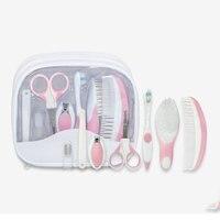 7PCS Portable Newborn Baby Tool Kits Infant Kids Kit Comb Toothbrush Safe Nail Care Infantil Doppler Fetal Gift Set Cheap Stuff