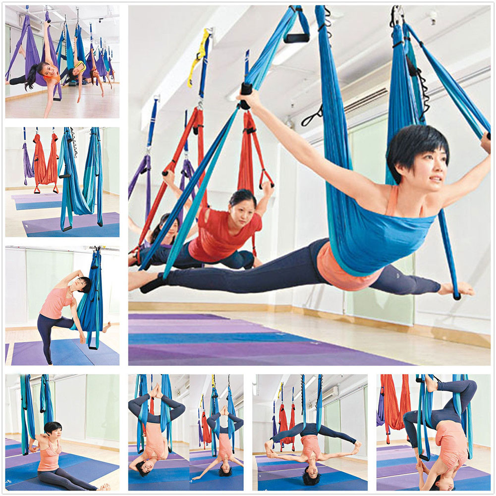 relefree de pression hammock inversion trapeze anti gravity aerial traction yoga gym fitness sling hanging blue in yoga belts from sports  u0026 entertainment     relefree de pression hammock inversion trapeze anti gravity      rh   aliexpress