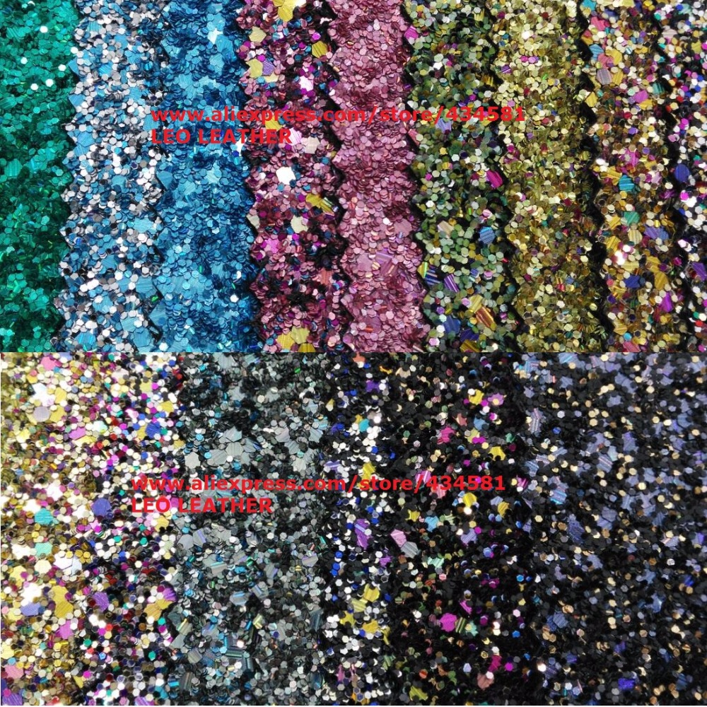 Mixed Color Chunky Glitter Fabric for Sewing DIY Accessories P710